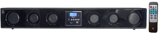 Pyle - PSBM200 , Home Audio / Video , LCD / Plasma , Wall Mounted Sound Bars , 6-Way 300 Watt Multi-Source Wall/Shelf Mount Sound Bar w/USB, SD, MP3, FM Tuner
