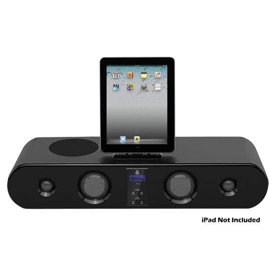 Pyle - PSBM60I , Home Audio / Video , iPod Tower Systems , iPad/iPod/iPhone 300 Watt Sound Bar Docking System With FM Radio & Wireless Remote