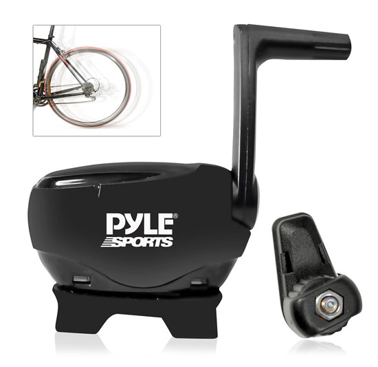 Pyle - PSBTC30 , Personal Electronics , Meters & Testers , Bluetooth Fitness and Training Bicycle Sensors with Wireless Data Transmission for Measuring Speed, Cadence, RPM and More