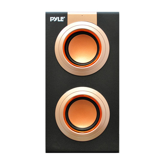 Pyle - PSBU9 , Home Audio / Video , i-Pod - MP3 Mini Speakers , Portable Bookshelf Speaker With Lithium Rechargeable Battery, Stereo, USB/SD Card Playback Aux In For iPod Android iPhone iPad