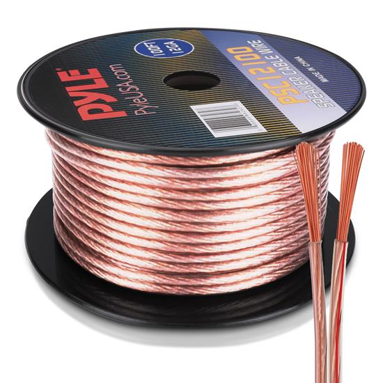 Pyle - PSC12100 , Sound and Recording , Cables - Wiring - Adapters , 12 Gauge 100 ft. Spool of High Quality Speaker Zip Wire