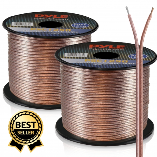 Pyle - PSC1250 , Home and Office , Cables - Wires - Adapters , Sound and Recording , Cables - Wires - Adapters , 12 Gauge 50 ft. Spool of High Quality Speaker Zip Wire