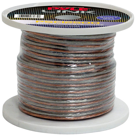 Pyle - PSC12500 , Sound and Recording , Cables - Wiring - Adapters , 12 Gauge 500 ft. Spool of High Quality Speaker Zip Wire