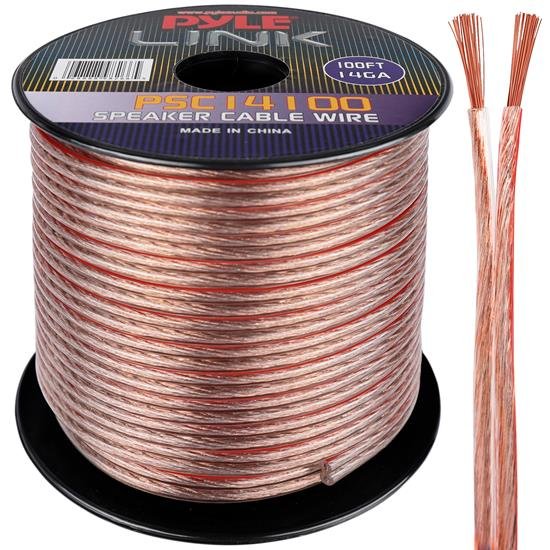 Pyle - PSC14100 , Sound and Recording , Cables - Wiring - Adapters , 14 Gauge 100 ft. Spool of High Quality Speaker Zip Wire