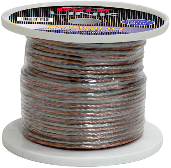 Pyle - PSC16100 , Car Audio , Audio / Video Cables And Accessories , Speaker Cables , 16 Gauge 100 ft. Spool of High Quality Speaker Zip Wire