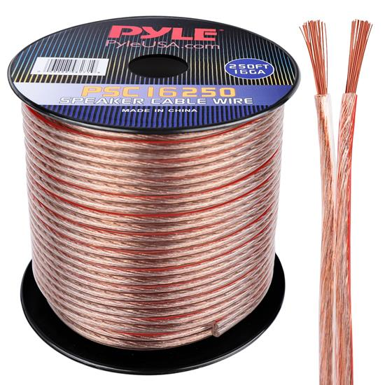 Pyle - PSC16250 , Car Audio , Audio / Video Cables And Accessories , Speaker Cables , 16 Gauge 250 ft. Spool of High Quality Speaker Zip Wire