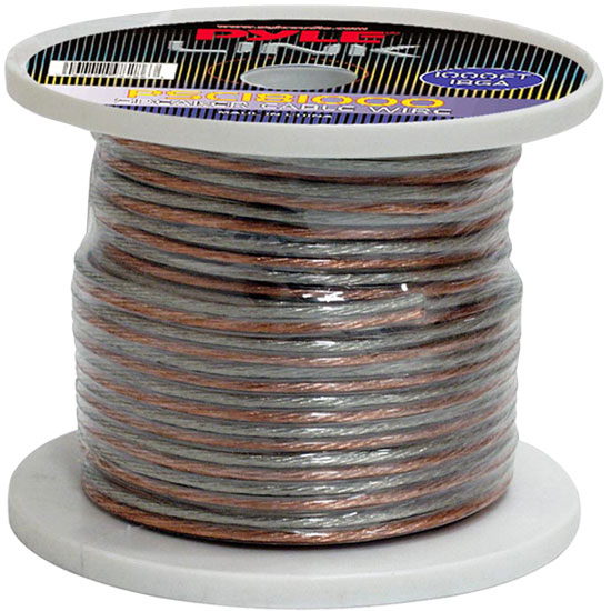 Pyle - PSC181000 , Car Audio , Audio / Video Cables And Accessories , Speaker Cables , 18 Gauge 1000 ft. Spool of High Quality Speaker Zip Wire