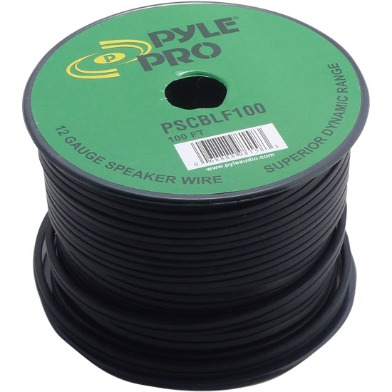 Pyle - PSCBLF100 , Car Audio , Audio / Video Cables And Accessories , Speaker Cables , 100Ft 12 AWG Spool Speaker cable With Rubber Jacket