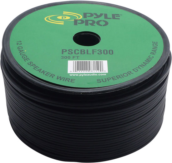 Pyle - PSCBLF300 , Car Audio , Audio / Video Cables And Accessories , Speaker Cables , 300Ft 12 AWG Spool Speaker cable With Rubber Jacket