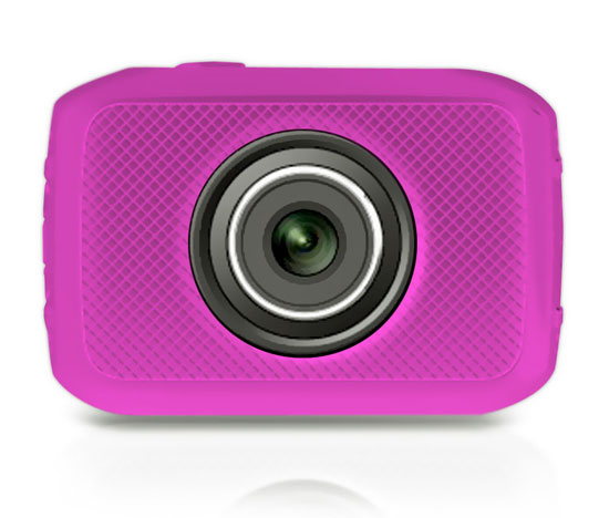 Pyle - PSCHD30PN , Gadgets and Handheld , Cameras - Videocameras , High-Definition Sport Action Camera with 720p Wide-Angle Camcorder, 5.0 MP Camera, 2-Inch Touch Screen, Micro SD Card Slot, Waterproof Case and Mounting Gear for Biking, Riding, Racing, Skiing and Water Sports (Pink color)