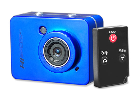 Pyle - PSCHD60BL , Gadgets and Handheld , Action and Outdoor Cameras , Hi-Speed HD 1080P Action Camera Hi-Res Digital Camera/Camcorder with Full HD Video, 12.0 Mega Pixel Camera & 2.4'' Touch Screen (Blue Color)