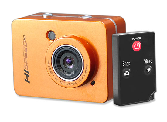 Pyle - PSCHD60OR , Gadgets and Handheld , Cameras - Videocameras , Hi-Speed HD 1080P Action Camera Hi-Res Digital Camera/Camcorder with Full HD Video, 12.0 Mega Pixel Camera & 2.4'' Touch Screen (Orange Color)