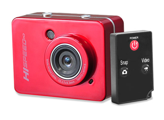 Pyle - PSCHD60RD , Gadgets and Handheld , Action and Outdoor Cameras , Hi-Speed HD Action Camera 1080P Hi-Res Digital Camera/Camcorder with Full HD Video, 12.0 Mega Pixel Camera & 2.4'' Touch Screen (Red Color)