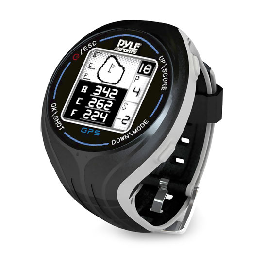 Pyle - PSGF605BK , Sports and Outdoors , Watches , Gadgets and Handheld , Watches , Personal GPS Golf Watch with Automatic Course Recognition (Preloaded USA Golf Courses) (Black Color)