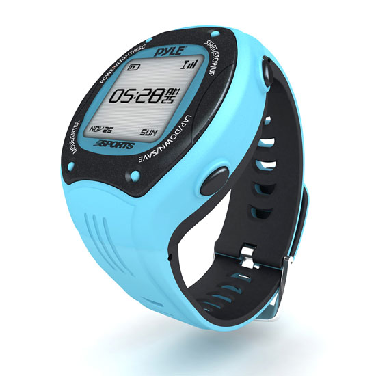 Pyle - UPSGP310BL , Sports and Outdoors , Watches , Gadgets and Handheld , Watches , Multi-Function Digital LED Sports Training Watch with GPS Navigation (Blue Color)