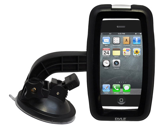 Pyle - psic55 , Home Audio / Video , i-Pod - iPad & MP3 Accessories , Waterproof Windshield Dashboard Universal Car Mount & Boat Mounnt Holder  Universal Sport Case for iPhone 4, 4s, iPod Touch, Some Android & Other Smartphones & Portable Devices (Black)