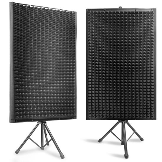 Pyle - PSIP24X2 , Sound and Recording , Sound Isolation - Dampening , 2 Pcs. Sound Absorbing Wall Panel Studio Foam - Acoustic Isolation & Dampening Wedge with Stand