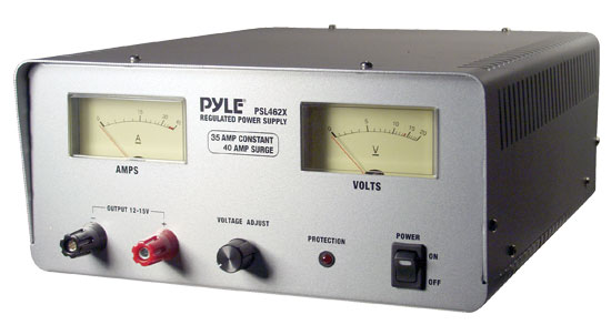 Pyle - PSL462X , Home and Office , Power Supply - Converters , On the Road , Power Supply - Converters , 35 Amp Linear Power Supply AC/DC With Fan Control