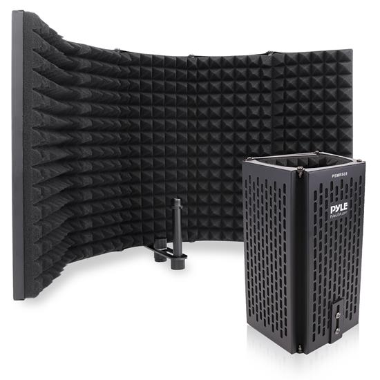 Pyle - PSMRS05 , Sound and Recording , Sound Isolation - Dampening , Five Panels Metal Microphone Isolation Shield – Vocal Booth and Studio Recording Acoustic Panel