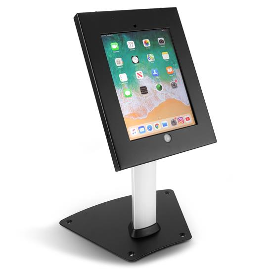 Pyle - PSPADLK12 , Musical Instruments , Mounts - Stands - Holders , Sound and Recording , Mounts - Stands - Holders , Tamper-Proof Anti-Theft iPad Kiosk Safe Security Desk Table Stand, Holder, Public Display Case with Cable Management (Compatible with iPads 2/3/4/Air)