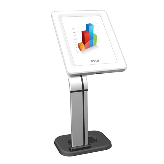 Pyle - PSPADLK14 , Musical Instruments , Mounts - Stands - Holders , Sound and Recording , Mounts - Stands - Holders , Anti-Theft iPad/Tablet Kiosk Public Display Stand Mount, for Tabletop, Desktop, Counter, etc. (Works with iPad Generations 2, 3, 4, iPad Air, iPad Air 2)