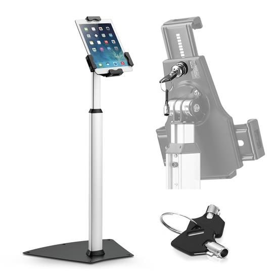 Pyle - PSPADLK60 , Musical Instruments , Mounts - Stands - Holders , Sound and Recording , Mounts - Stands - Holders , Anti-Theft iPad/Tablet Security Display - Universal Tamper-Proof Device Kiosk Floor Stand (Compatible with iPads Mini/1/2/3/4/Air)
