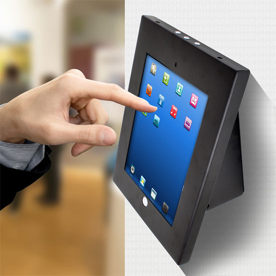 Pyle - PSPADLKW5 , Musical Instruments , Mounts - Stands - Holders , Sound and Recording , Mounts - Stands - Holders , Universal Tamper-Proof Anti-Theft iPad Kiosk Multi-Mount Stand Holder (Fits All 2nd, 3rd, 4th and Air Generation iPads) Can be Mounted on Walls, Tables, Desks, etc.