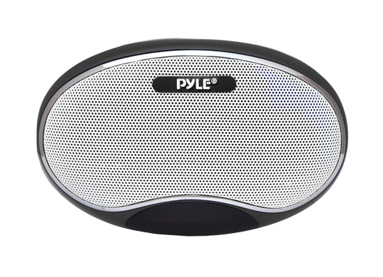 Pyle - PSPFM1B , Home Audio / Video , i-Pod - MP3 Mini Speakers , Portable MP3 Speaker Player With Lithium Rechargeable Battery, LED Display, MP3/Micro SD/USB/Laptop, FM Radio, Aux Input (BLACK COLOR)