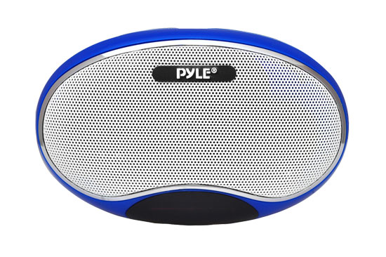 Pyle - PSPFM1BL , Home Audio / Video , i-Pod - MP3 Mini Speakers , Portable MP3 Speaker Player With Lithium Rechargeable Battery, LED Display, MP3/Micro SD/USB/Laptop, FM Radio, Aux Input (BLUE COLOR)
