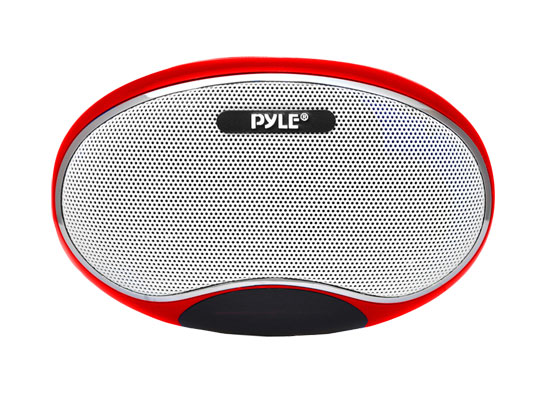 Pyle - PSPFM1R , Home Audio / Video , i-Pod - iPad & MP3 Accessories , Portable MP3 Speaker Player With Lithium Rechargeable Battery, LED Display, MP3/Micro SD/USB/Laptop, FM Radio, Aux Input (RED COLOR)