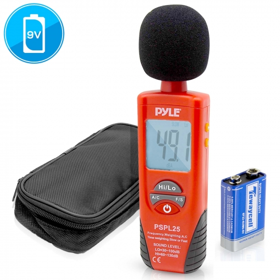 Pyle - PSPL25 , Tools and Meters , Audio - Sound , Sound Level Meter with A and C Frequency Weighting