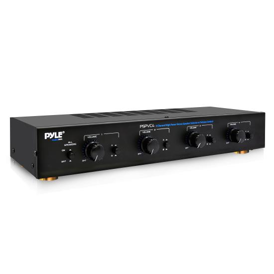 Pyle - PSPVC4 , Sound and Recording , Digital Tuners - Speaker Selectors , 4 Channel High Power Stereo Speaker Selector W/volume Control