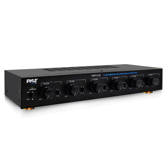 Pyle - PSPVC6 , Sound and Recording , Digital Tuners - Speaker Selectors , 6 Channel High Power Stereo Speaker Selector W/Volume Control
