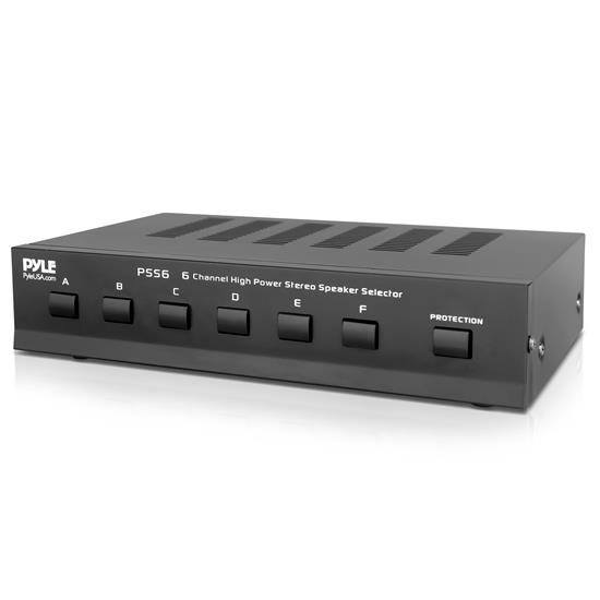 Pyle - PSS6 , Sound and Recording , Digital Tuners - Speaker Selectors , 6 Channel High Power Stereo Speaker Selector