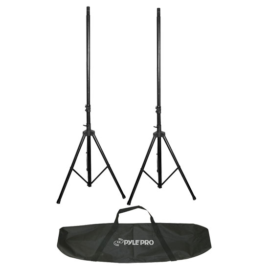 Pyle - PSTK106 , DJ Equipment , Stands , 6.6 ft Heavy-Duty Dual Speaker Stand with Traveling Bag Kit