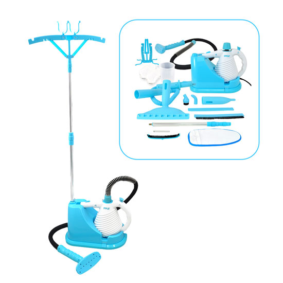 Pyle - PSTMH15 , Home and Office , Steam Cleaners - Steam Press , Steam Cleaner and Handheld Birdie, Multi-Purpose & Multi-Surface Disinfecting Deep Cleaning for Home, Clothing, Floors, Carpets & Vehicles