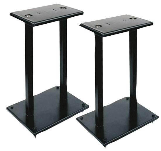 Pyle - PSTND13 , Musical Instruments , Mounts - Stands - Holders , Sound and Recording , Mounts - Stands - Holders , One Pair of Heavy Duty Steel Double Support Bookshelf Speaker Stand