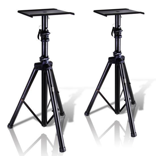 Pyle - PSTND32 , Musical Instruments , Mounts - Stands - Holders , Sound and Recording , Mounts - Stands - Holders , Dual Studio Monitor Speaker Stand Mounts, Universal Device Stands, Pair