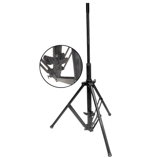 Pyle - PSTND90 , DJ Equipment , Stands , Foot Pedal WIND UP Heavy Duty Tripod Speaker Stand