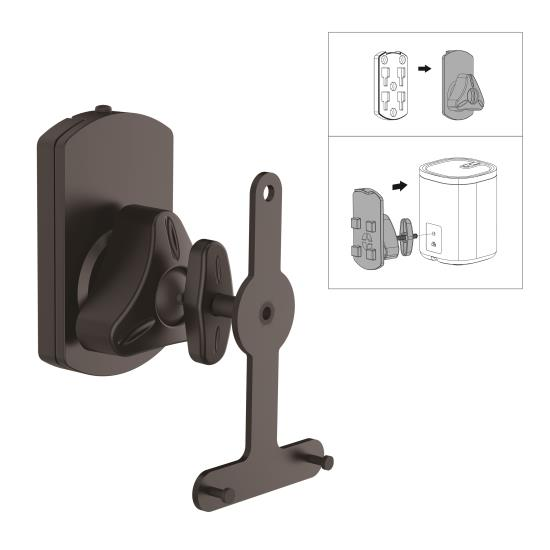 Pyle - UPSTNDSON08 , Musical Instruments , Mounts - Stands - Holders , Sound and Recording , Mounts - Stands - Holders , Dual Universal Wall Mount Speaker Stands, Tilt/Swivel Adjustable (Works with Sonos PLAY 1, PLAY 3)