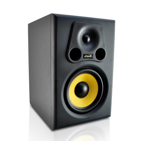 Pyle - PSTUDIO6 , Sound and Recording , Studio Speakers - Stage Monitors , 6.5'' 350 Watt 2-Way Bass Reflex Amplified Studio Monitor Speaker