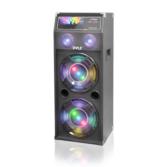 Pyle - PSUFM1040P , Sound and Recording , PA Loudspeakers - Cabinet Speakers , 1000 Watts Disco Jam Passive Dual 10'' DJ Speaker System with Flashing DJ Lights (For Use With Model PSUFM1045A)