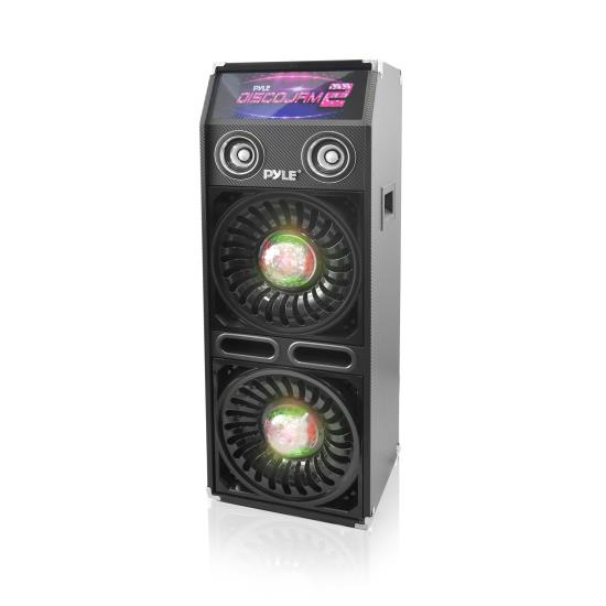 Pyle - AZPSUFM1065P , Sound and Recording , PA Loudspeakers - Cabinet Speakers , Disco Jam 2 Passive PA Speaker System, Flashing DJ Lights, Dual 10-Inch Woofers, Dual 3-Inch Tweeters, 1200 Watt (Works with Active Speaker Model: PSUFM1068BT)