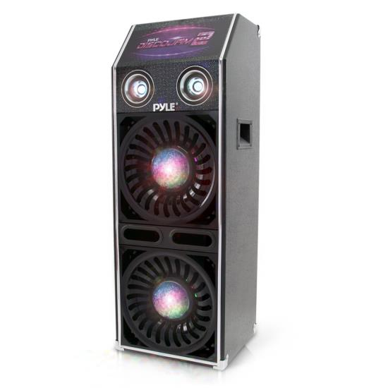 Pyle - PSUFM1070P , Sound and Recording , PA Loudspeakers - Cabinet Speakers , Disco Jam 2 Passive Speaker System, Flashing DJ Lights, Dual 10-Inch Woofers, Dual 3-Inch Tweeters, 1500 Watt (Works with Active Speaker Model: PSUFM1072BT)