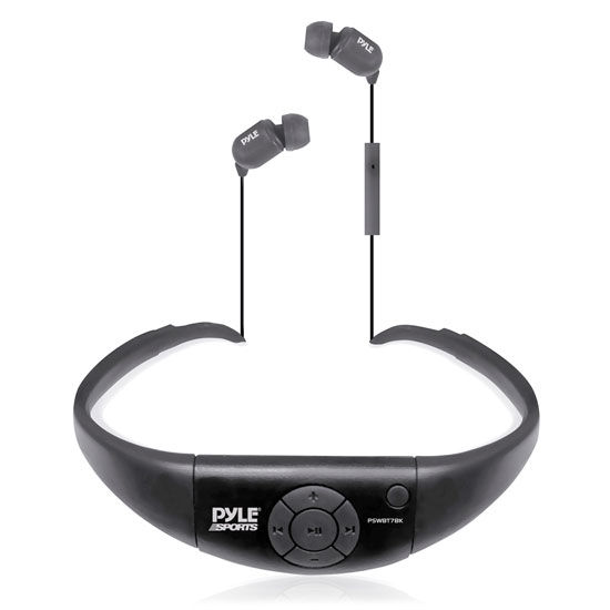 Pyle - PSWBT7BK , Marine Audio & Video , Headphones , Active Sport Waterproof Bluetooth Hands Free Wireless Stereo Headphones and Headset with Built in Microphone for Call Answering (Black)