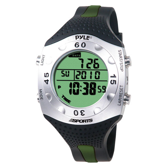 Pyle - PSWDV60GN , Sports and Outdoors , Watches , Gadgets and Handheld , Watches , Advanced Dive Meter With Water Depth, Temperature, Dive Log, Auto EL Backlight