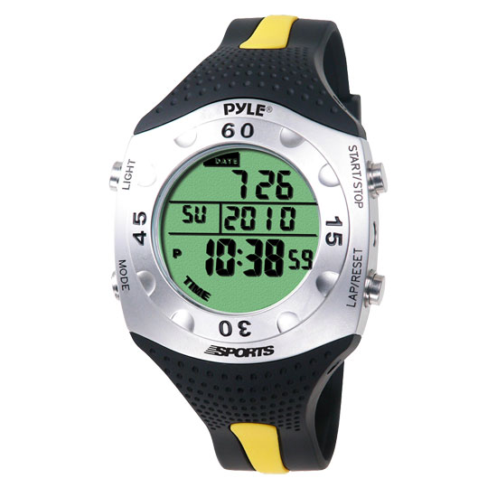 Pyle - PSWDV60Y , Sports and Outdoors , Watches , Gadgets and Handheld , Watches , Advanced Dive Meter With Water Depth, Temperature, Dive Log, Auto EL Backlight