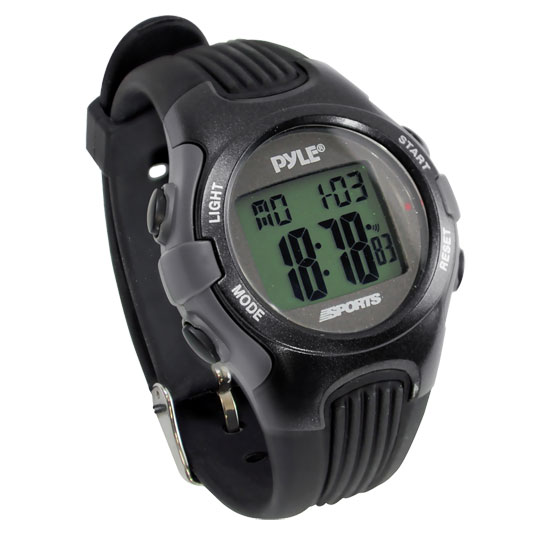 Pyle - PSWGM64BK , Sports and Outdoors , Watches , Gadgets and Handheld , Watches , Gymaster Fitness Multi-function Watch w/ Pacer,  50 Lap Chronograph Memory, 4 Countdown Timers (Black Color)