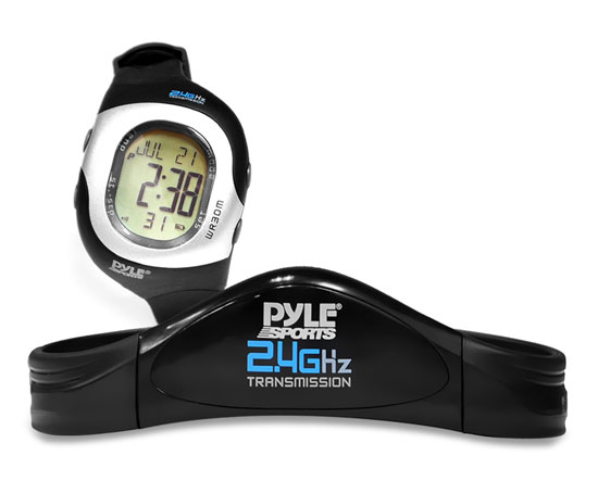 Pyle - PSWHRL34 , Sports & Outdoors , Sports Watches , 2.4GHz Ladies Heart Rate Monitor W/ Coded Heart Rate Transmission, 4 Heart Rate Zones, Calorie & Fat Burned, 50 Lap Chronograph Memory, SOS Mode