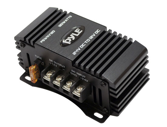 Pyle - PSWNV120 , Car Audio , Power Inverter , 24V DC to 12V DC Power Step Down 120 Watt  Converter W/ PMW Technology
